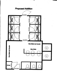 Girls Shower House Floorplan